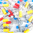Electrical terminals and  screws - Stock fotografie