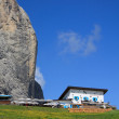 Comici refuge and Sassolungo - Val Gardena - Stock Photo