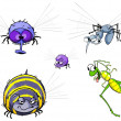 Stock Photo: Insects set.