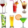 Set of beverages. — Stock Photo