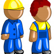 Builders icon — Stock Vector