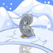 Frozen cygnet. - Stock Photo