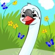 Cheerful swan. — Stock Photo #5450942