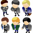 Business man icon set — Stock Photo