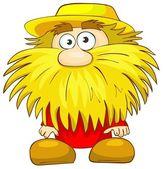 Funny man with beard — Stock Photo