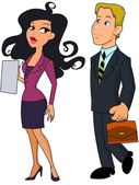 Business woman and business man Note to editor: — Stock Photo