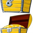 Opened and closed treasure Chest. — Stock Photo