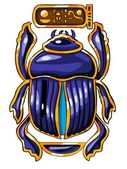 The Egyptian sacred symbol - scarab — Stock Photo