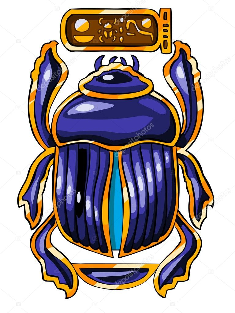Cartoon illustration of the Egyptian sacred symbol - scarab. — Stock Photo #6253115