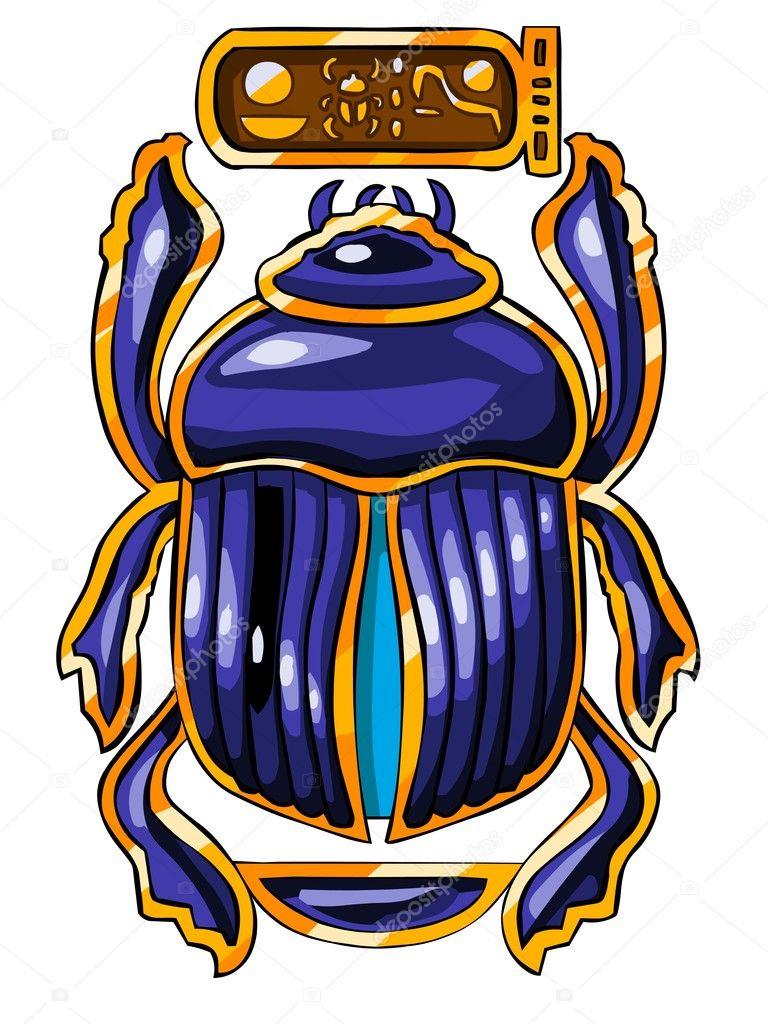 The Egyptian sacred symbol - scarab - Stock ImageEgyptian Symbols Scarab