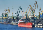 Riga port. — Stock Photo