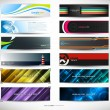 Vector abstract banners for web header — Stockvectorbeeld