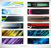 Vector abstract banners for web header — Vecteur