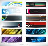 Vektor abstrakt banners för web header — Stockvektor