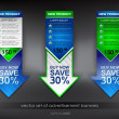 Royalty-Free Stock Imagen vectorial: Vector set of advertisement banners