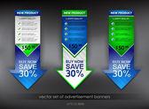 Vector set of advertisement banners — Stock Vector