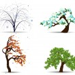 Four season trees - Stockvectorbeeld
