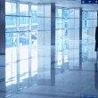 Airport interior blue - Stock Photo