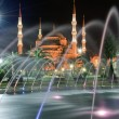 Blue Mosque at night 01 — Foto Stock