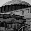 Hagia Sofia close up mono — Stock Photo