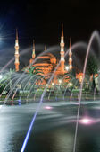 Blue Mosque at night 01 — Stock Photo
