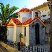 Platanias miniature church for one — Stock Photo