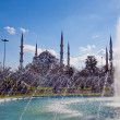 Blue Mosque with fountain 01 - Stock Photo