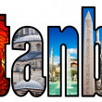 Istanbul word montage — Stock Photo