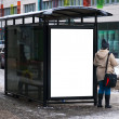 Winter bus stop - Stock Photo