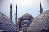 Blue Mosque from hagia sophia — Stock Photo