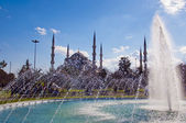 Blue Mosque with fountain 01 — Stock Photo
