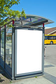 Bus stop bastad — Stock Photo