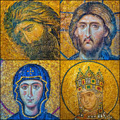 Hagia Sofia mosaics — Stock Photo