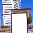 Bus stop at turning torso 01 — Stock Photo