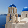 Santorini Oia Church panorama — Stock Photo