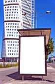 Bus stop at turning torso 01 — Stock Photo