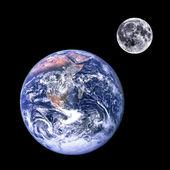 Moon and earth — Stock Photo