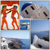 Santorini collage 02 — Foto Stock