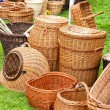 Wicker baskets - Stock Photo