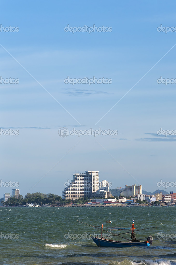 A view of the Hua Hin coastline in Thailand. — Stock Photo #6728906