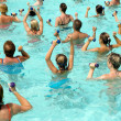 Aerobic in pool — Foto Stock