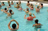 Water aerobic — Stok fotoğraf