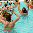 Aerobic in pool — Foto de Stock