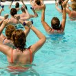 Aerobic in pool — Stockfoto