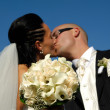 Wedding kiss — Stock Photo #5698118