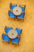 Tables from above — Stockfoto