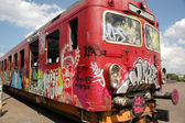 Graffiti train — Stockfoto