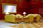 Hotellets lobby — Stockfoto