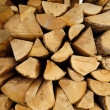 Stack of chopped fire wood — ストック写真