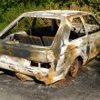 Burnt car wreck — Stock Photo